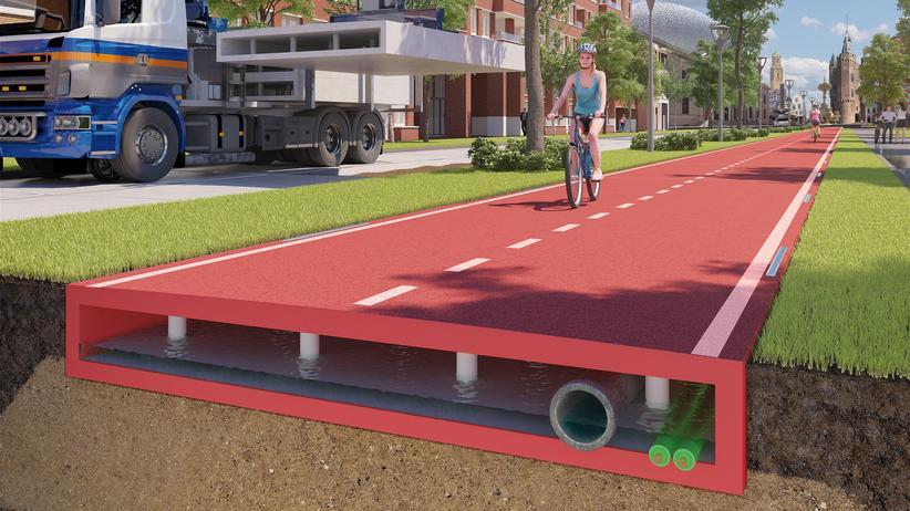 Recycling: Der in den Niederlanden entwickelte Radweg