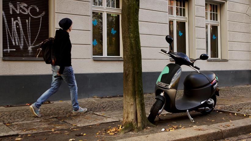 E-Roller: In zwei deutschen Städten hatte Coup Elektroroller im Angebot: in Berlin und Tübingen.