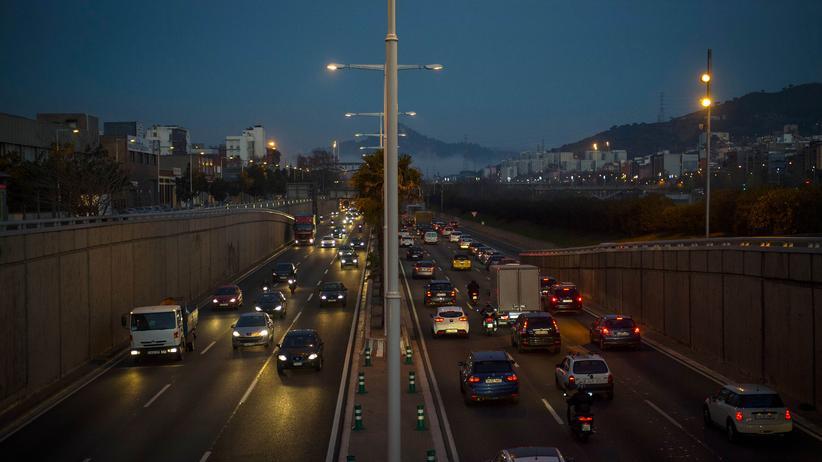Fahrverbot in Barcelona: Feierabendverkehr in Barcelona