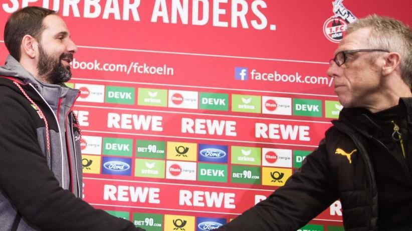 """Ex-Club FC Köln: BVB-Coach Stöger: """"Froh, dass das Spiel vorbei ist"""""""