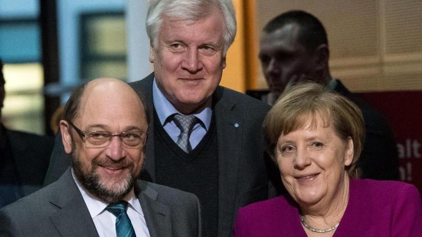 Bildung einer großen Koalition: CDU, CSU und SPD im Endspurt