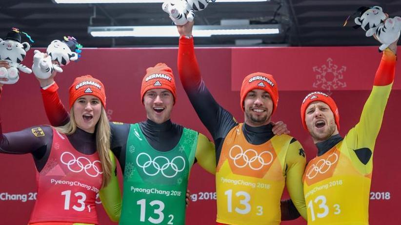 Titel verteidigt: Deutsche Rodler holen erneut olympisches Team-Gold