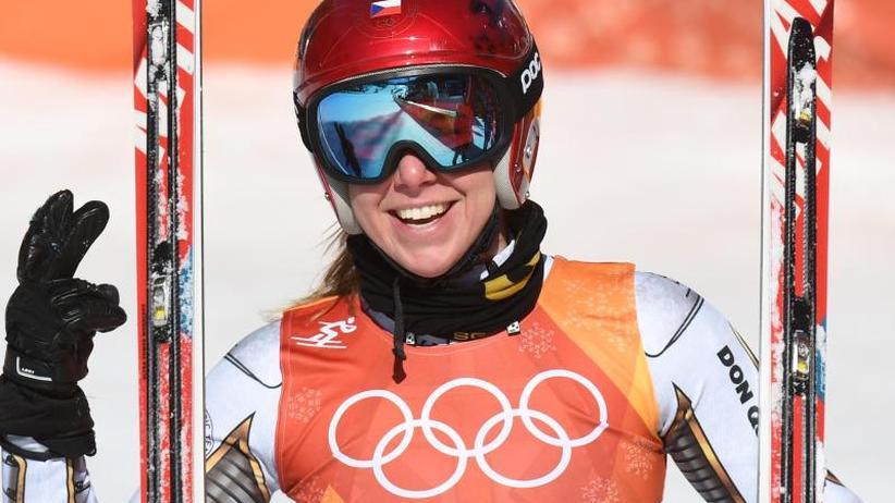 Tschechin überrascht: Snowboarderin Ledecka holt Sensationsgold im Super-G