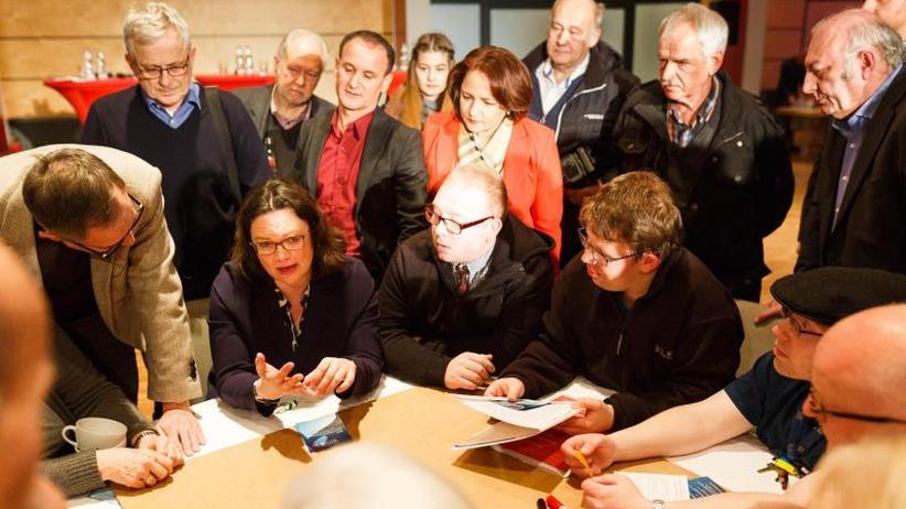 Nahles optimistisch: SPD-Spitze startet Werbetour für Koalition