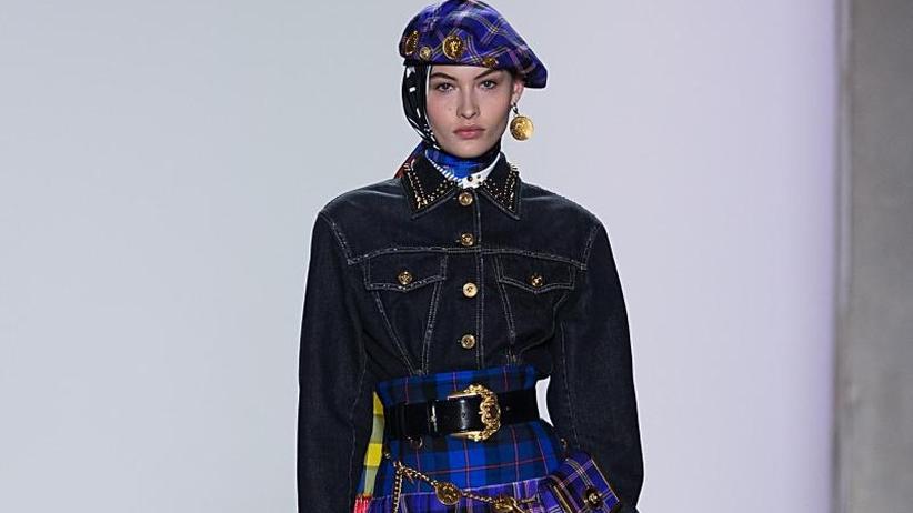 Mailänder Modewoche: Versace mit Punk-Karos, Armani mit Eleganz