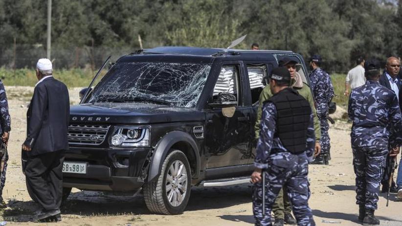 Explosion neben Konvoi: Anschlag auf palästinensischen Ministerpräsidenten in Gaza