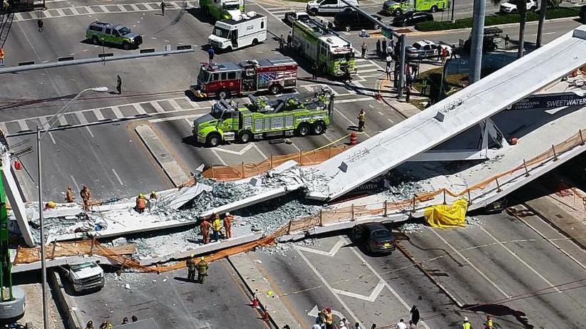 Katastrophe in Miami: Mindestens sechs Tote nach Einsturz von Fußgängerbrücke