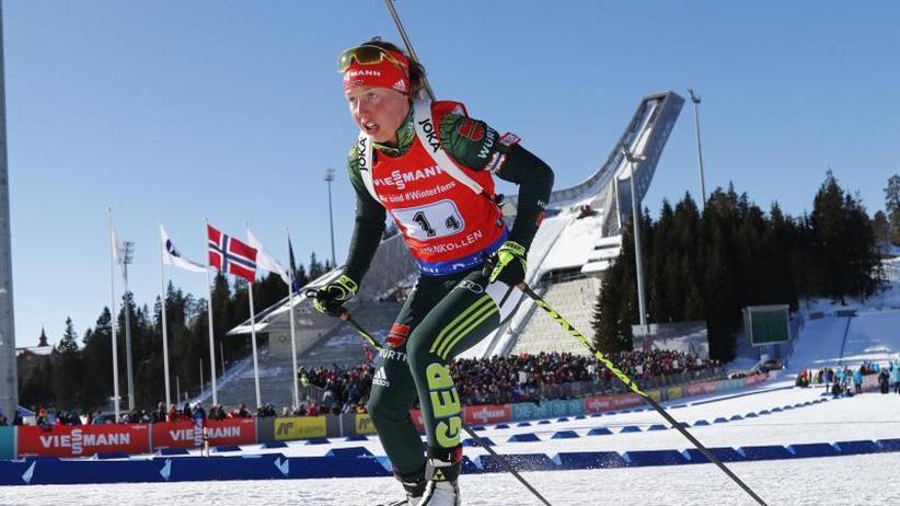 Weltcup in Oslo: Biathlon-Frauenstaffel in Oslo Zweite