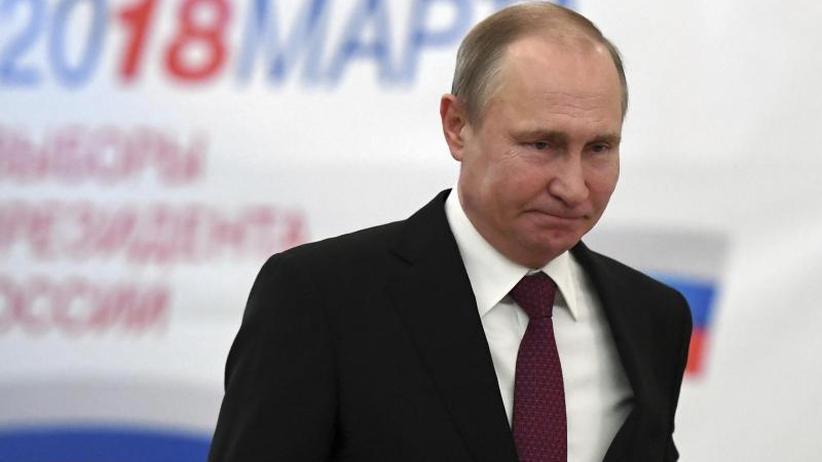 Wahl in Russland: Erste Prognose: Putin als russischer Präsident wiedergewählt