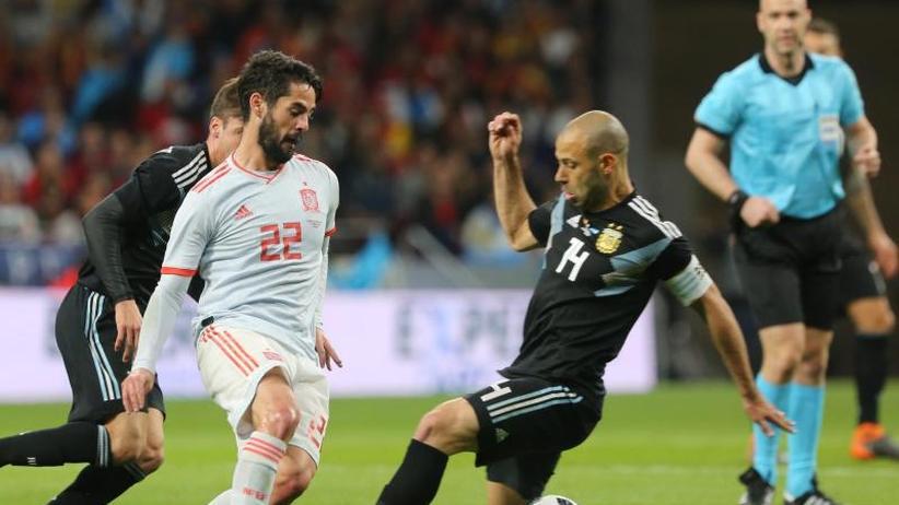 Testspiele: Spanien besiegt Argentinien 6:1 - deutsche WM-Gegner schwach