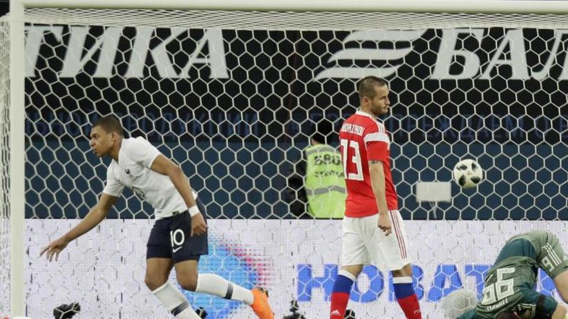 Zweite Testspiel-Niederlage: WM-Gastgeber Russland verliert 1:3 gegen Frankreich