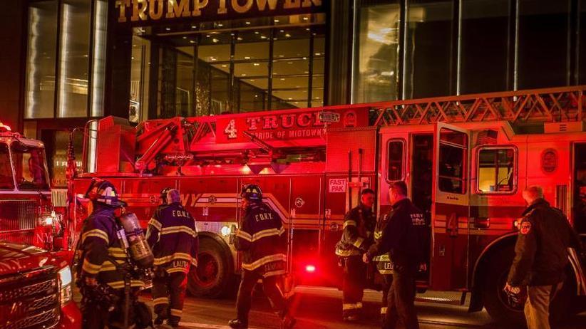US-Präsident dankt Feuerwehr: Ein Toter nach Brand im Trump Tower