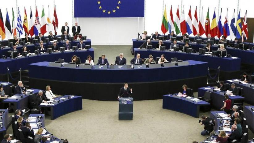 Rede im EU-Parlament: Macron willeuropäische Finanzhilfen für Flüchtlingsaufnahme