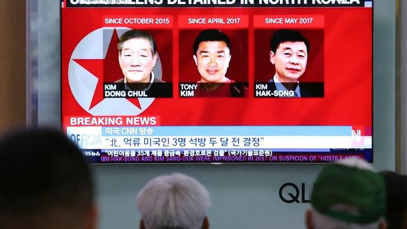 Pompeo in Pjöngjang: Nordkorea lässt drei inhaftierte US-Bürger frei