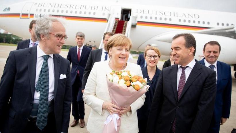 Eintägiger Arbeitsbesuch: Merkel zu Putin abgereist: Iran und Ukraine im Fokus
