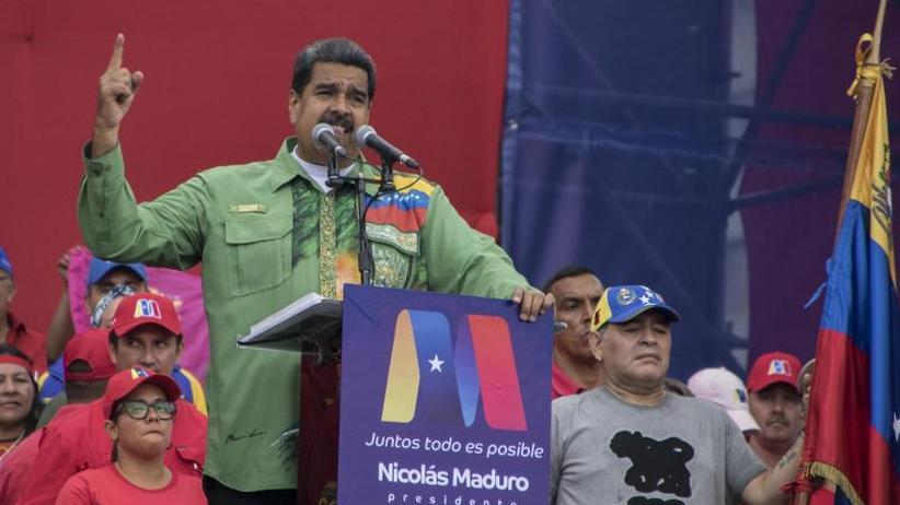 Weitere sechs Jahre im Amt?: Venezuelas Präsident Maduro geht siegessicher in die Wahl