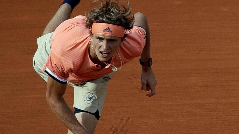 French Open in Paris: Alexander Zverev auch in Zweitrunden-Match Favorit