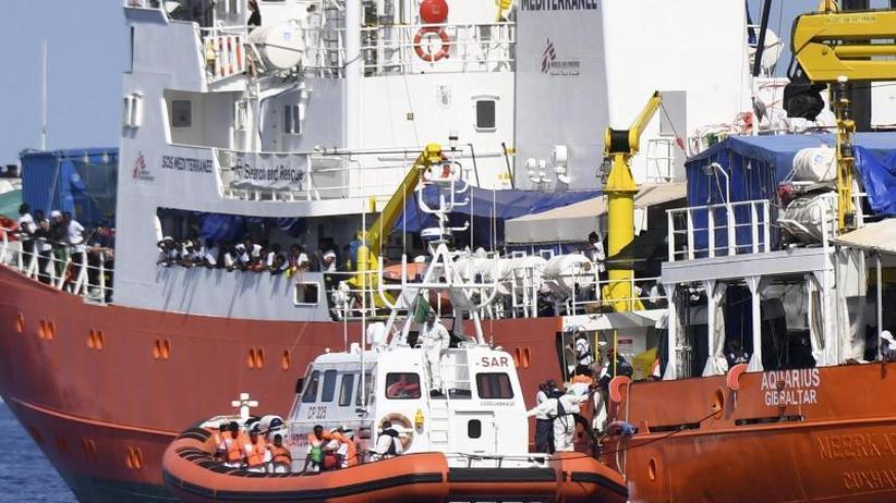 """Drohungen gegen Frankreich: Italien verschärft Gangart gegen Rettungsschiff """"Aquarius"""""""