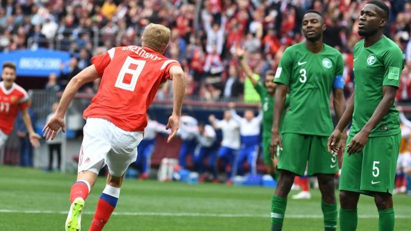 WM-Eröffnungsspiel: WM-Gastgeber Russland feiert Kantersieg gegen Saudi-Arabien