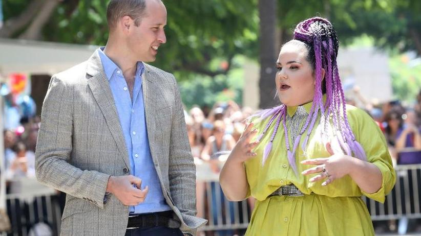 Nahost-Reise: Prinz William trifft ESC-Gewinnerin Netta Barzilai