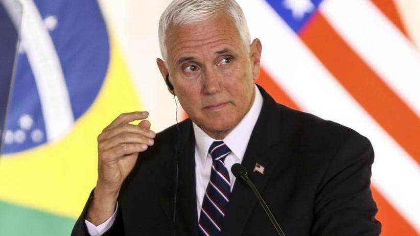 Pence in Brasilien: Trumps Vize warnt Lateinamerikaner vor illegaler Einreise