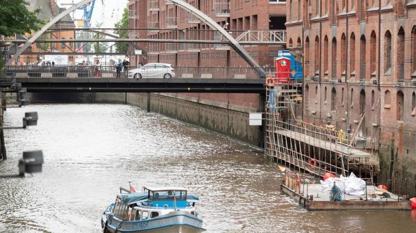 Instandsetzung: Sanierung in Hamburger Speicherstadt - Kaimauern sind dran