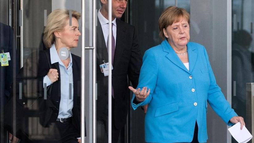Unter Druck von Trump: Merkel erwägt höhere Militärausgaben