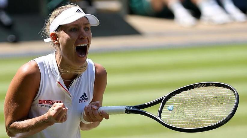 Rasenturnier in London: Wie 2016:Kerber zieht ins Wimbledon-Finale ein