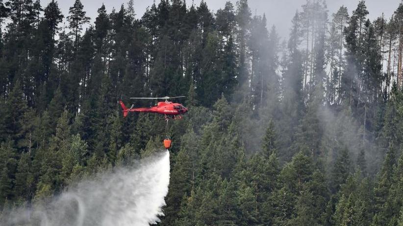 Deutsche Feuerwehr rückt an: Brände in Schweden lodern weiter