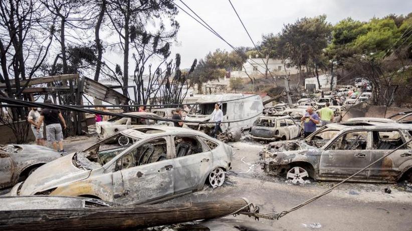 Tod auf der Flucht: Dutzende sterben in Flammeninferno bei Athen