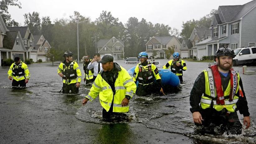 """Überschwemmungen und Tote: Der Südosten der USA kämpft mit den Fluten von """"Florence"""""""