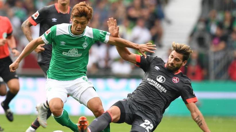 Bundesliga am Sonntag: Spätes 1:1 gegen Nürnberg: Werder Bremen verspielt Heimsieg