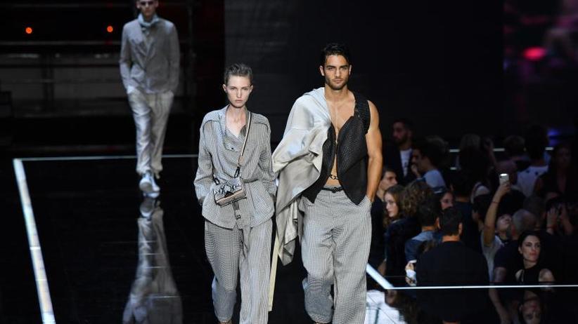 Mailänder Modewoche: Armani hebt ab - Nachwuchs bleibt am Boden