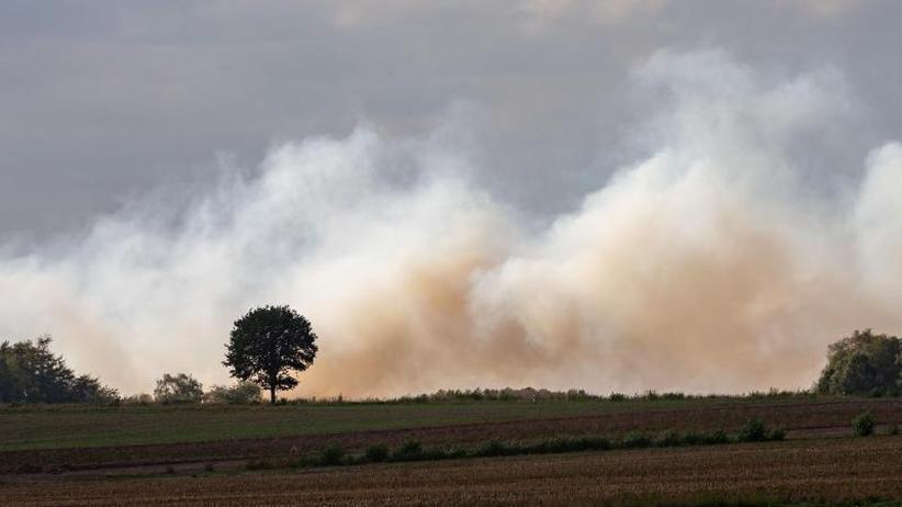 Großer Löscheinsatz: Moorbrand wird zum Katastrophenfall