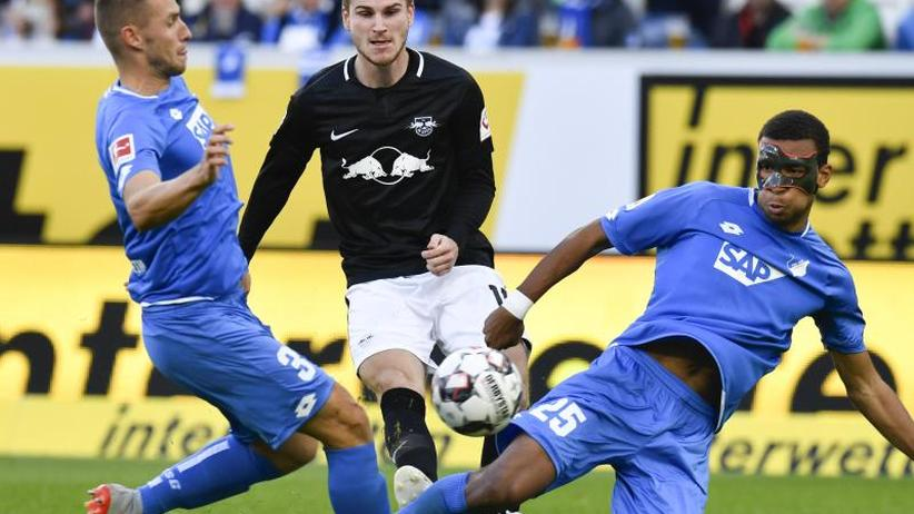Bundesliga: Poulsen schießt Leipzig in Hoffenheim zum Sieg