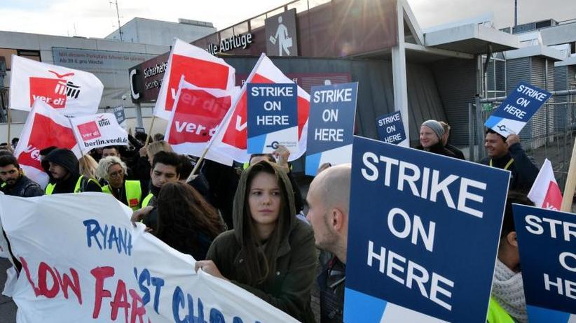 24-stündiger Ausstand: Verdi: Viele Beschäftigte haben bei Ryanair mutig gestreikt