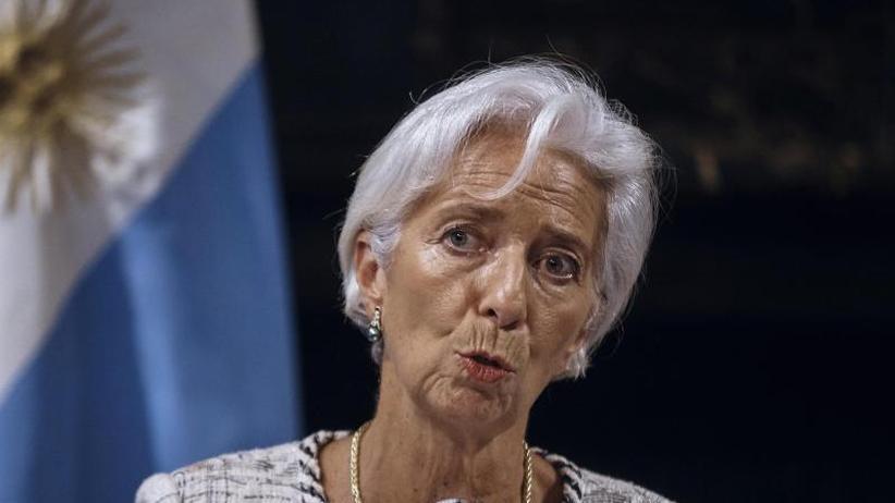 Vor Jahrestagung: IWF-Chefin Lagarde: Es nieselt, aber schüttet noch nicht