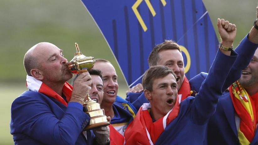 Team-Versprechen: Nach Europas Ryder-Cup-Triumph: Tattoo für Captain Björn