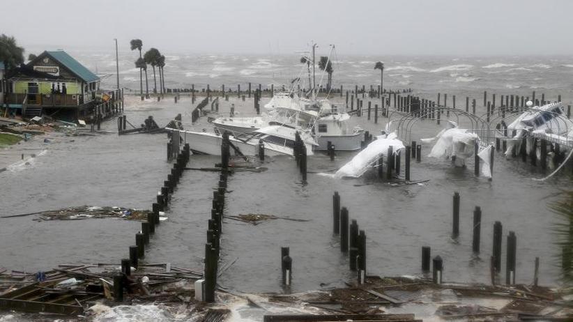 """Wassermassen: Hurrikan """"Michael"""" hinterlässt Trümmer und Verwüstung"""