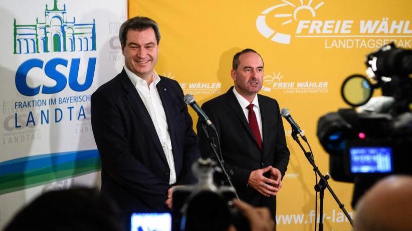 Sondierung mit CSU inMünchen: Freie Wähler erwarten heute Ende der Koalitionsverhandlungen