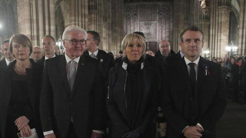 Friedenskonzert in Straßburg: Macron und Steinmeier erinnern an Kriegsende vor 100 Jahren