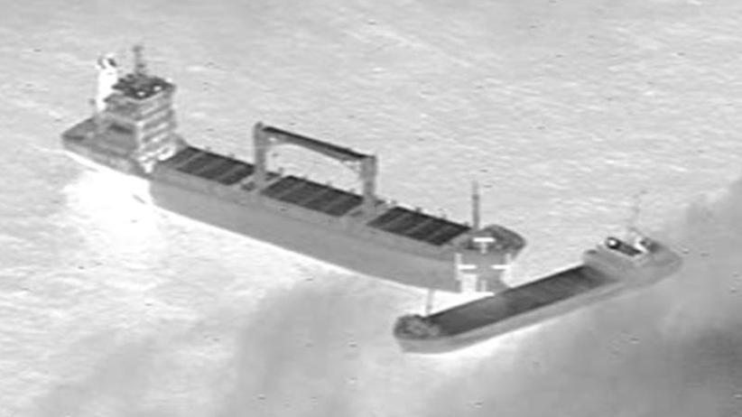 Unglück auf der Nordsee: Verkeilte Schiffe vor Borkum sind wieder getrennt