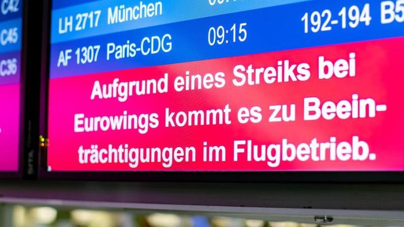 Flugausfälle: Warnstreik bei Eurowings in Düsseldorf angelaufen