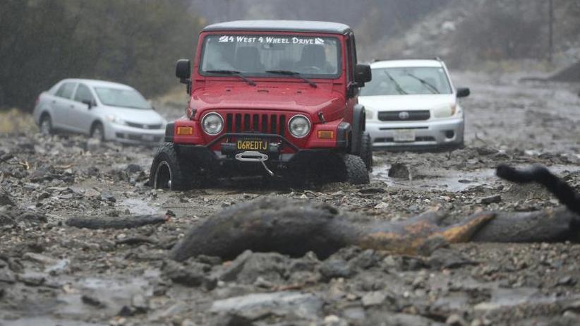 Heftige Regenfälle: Überflutungen suchen Brandgebiete in Kalifornien heim