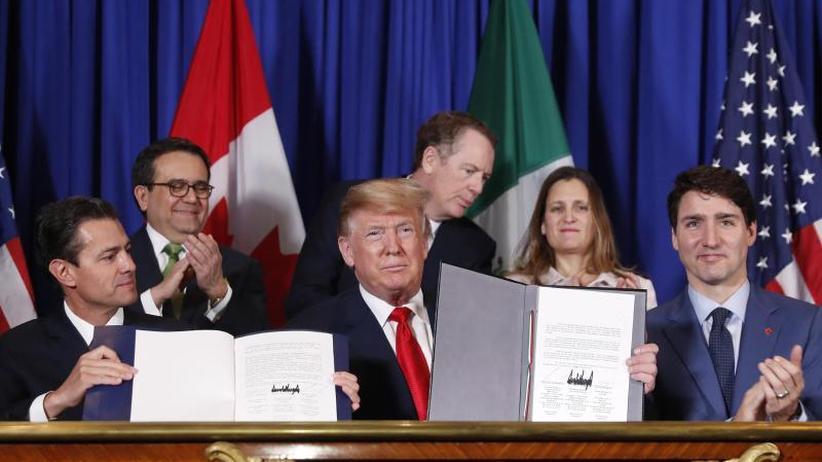 Nafta-Neuauflage: USA, Mexiko und Kanada unterzeichnen Freihandelsabkommen