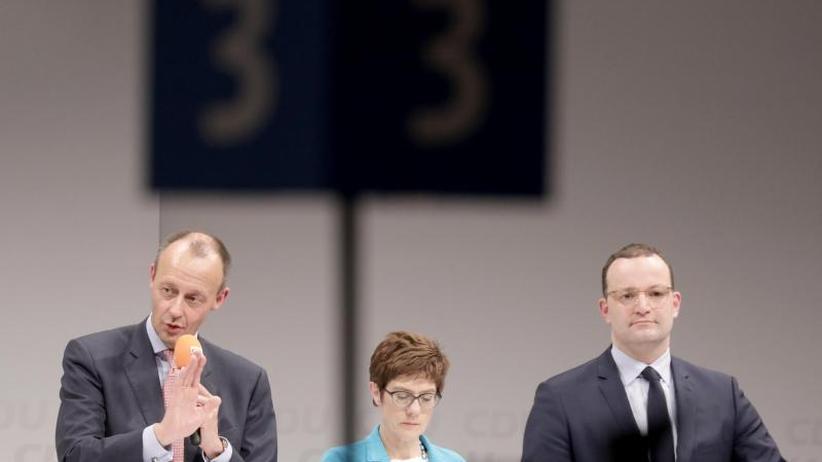 Merkel-Nachfolge: Wettstreit um CDU-Vorsitz: Kandidaten zeigen Gemeinsamkeiten