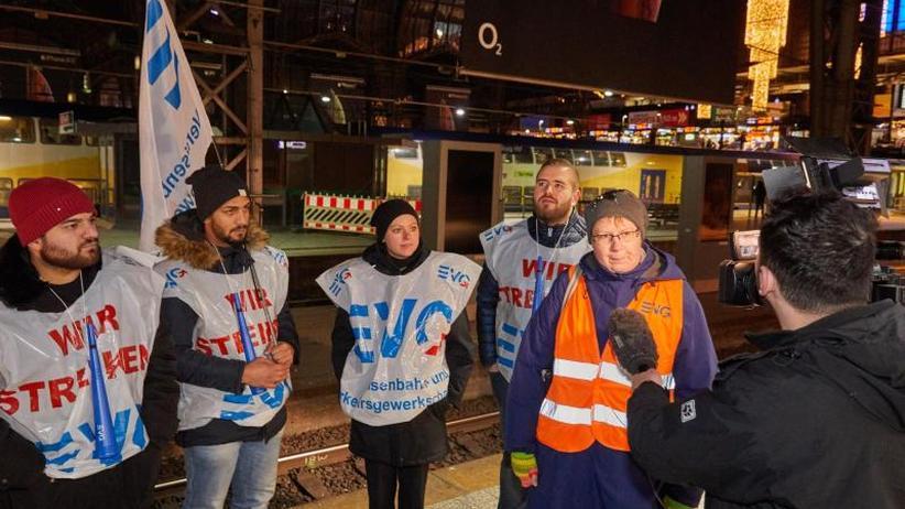 Bahn-Warnstreiks: Fernverkehr eingestellt, Regionalverkehr betroffen