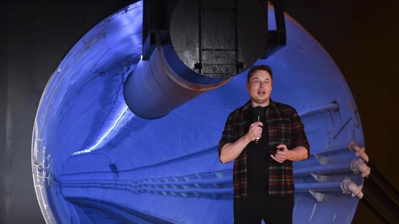 Elon Musks nächster Streich: Tesla-Chef eröffnet Test-Tunnel in LA