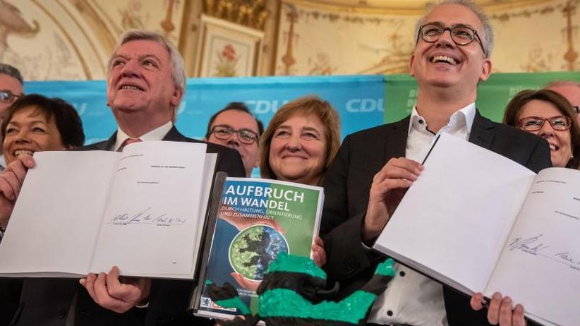 Koalitionsvertrag steht: Neuauflage von Schwarz-Grün in Hessen auf der Zielgeraden