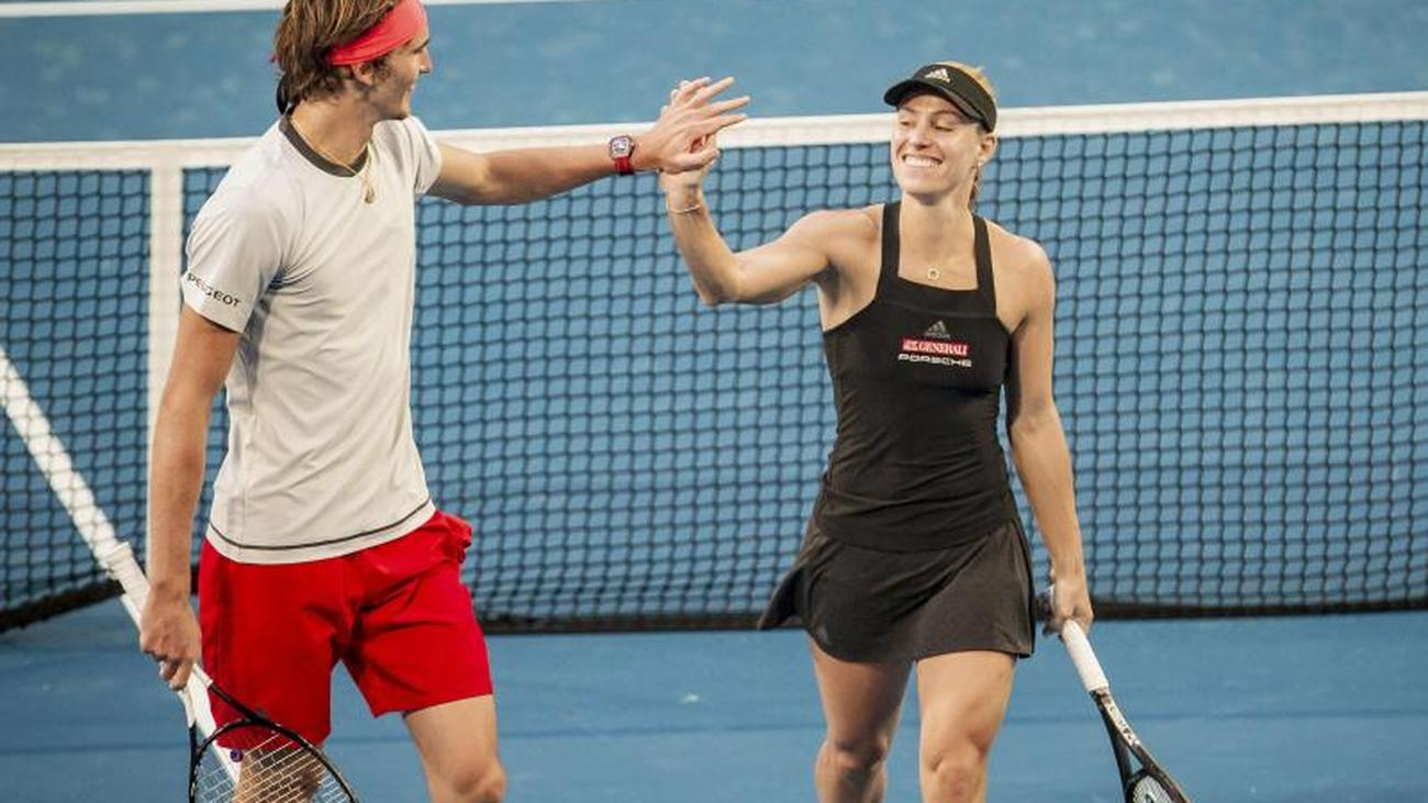 Unofficial Mixed Tennis World Championship Duo Kerber And Zverev